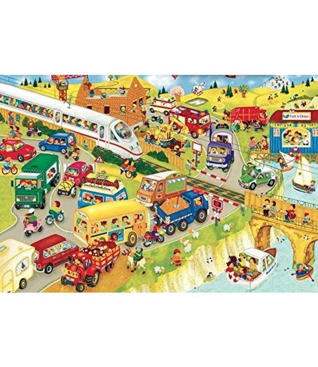schnurkarten Suche Morle - Wimmelbild mit Suchelement