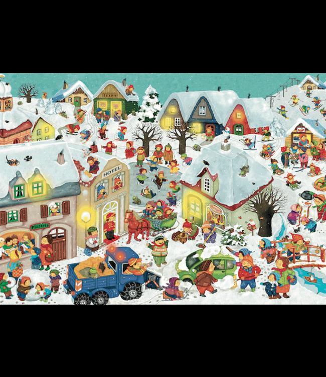 schnurkarten Suche Wimbo - Wimmelbild mit Suchelement