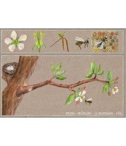 schnurkarten Frühling auf dem Apfelbaum