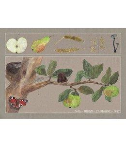 schnurkarten Herbst auf dem Apfelbaum