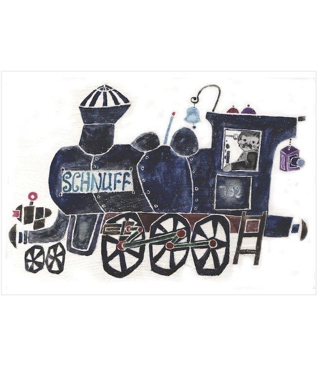 schnurkarten Lokomotive SCHNUFF