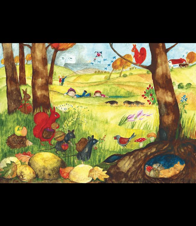 schnurkarten Herbst