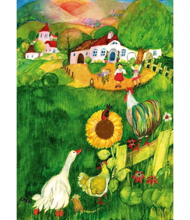 schnurkarten Bauernhof
