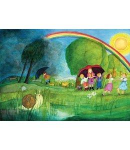 schnurkarten Regenbogen