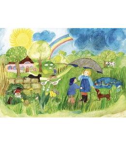 schnurkarten Sonnenschein und Regen