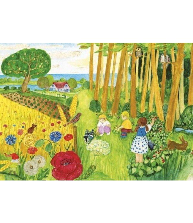 schnurkarten Wilde Blumen