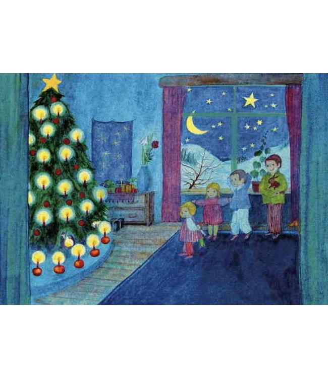 schnurkarten Weihnachtsabend