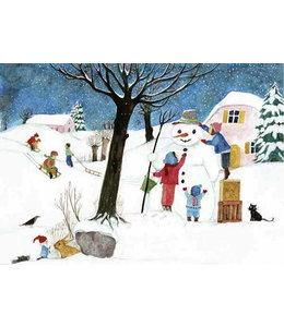 schnurkarten Schneemann bauen