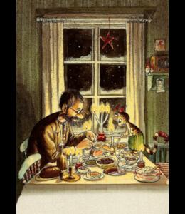 Hjelm Förlag Weihnachtsessen bei Pettersson und Findus