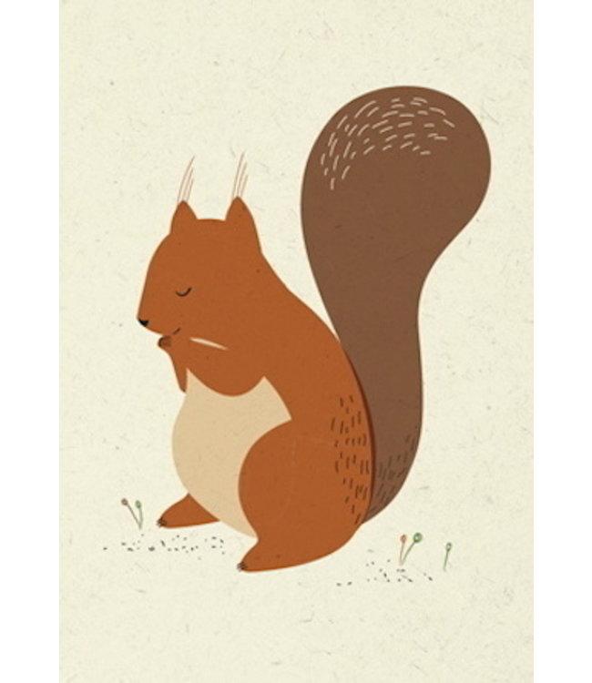 Vierundfünfzig Illustration Eichhörnchen