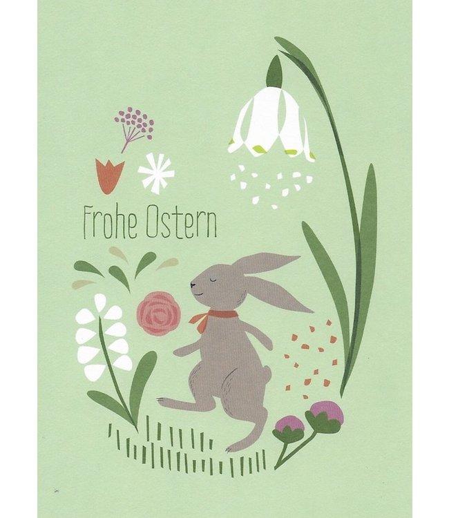 Vierundfünfzig Illustration Frohe Ostern