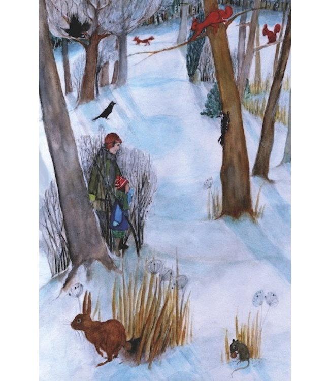 schnurkarten Tiere im Winterwald
