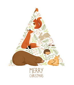 Vierundfünfzig Illustration MERRY CHRISTMAS