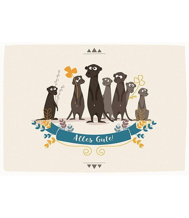 cats on appletrees Alles Gute wünschen die Erdmännchen
