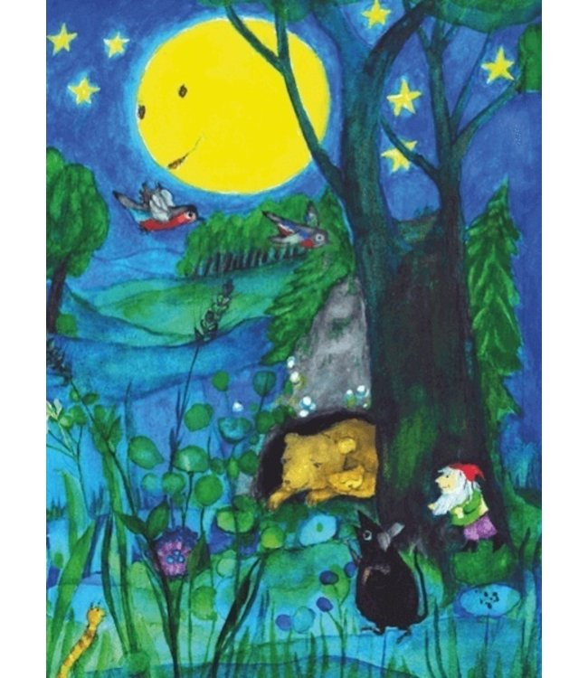 schnurkarten Mondnacht