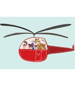 Fiep Westendorp Unterwegs im Hubschrauber