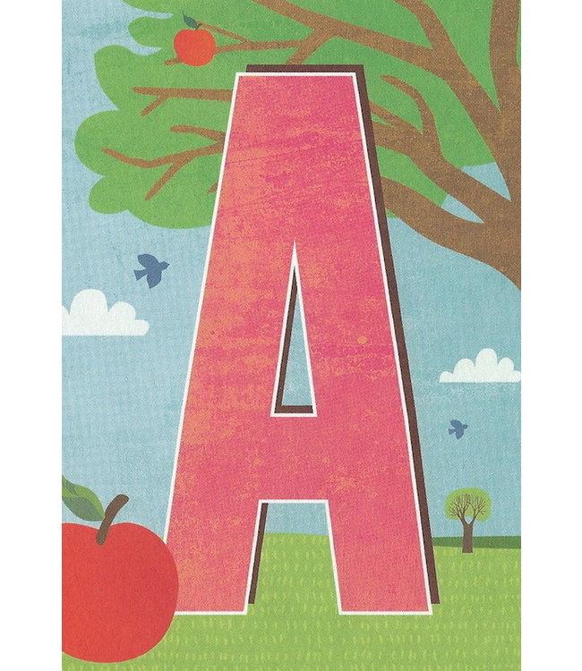 MONIMARI Buchstabenkarte A