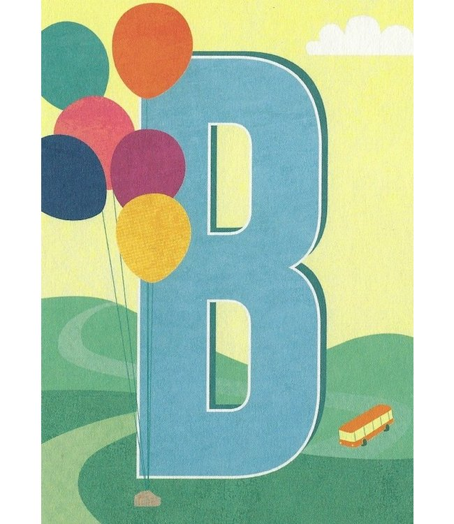MONIMARI Buchstabenkarte B