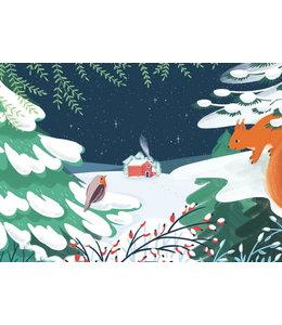 Vierundfünfzig Illustration Winterabend