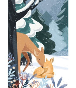 Vierundfünfzig Illustration Winterwald