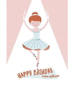Vierundfünfzig Illustration Ballerina
