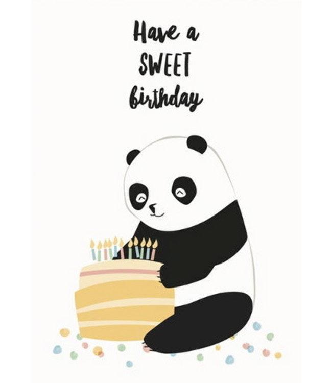 Vierundfünfzig Illustration Pandageburtstag