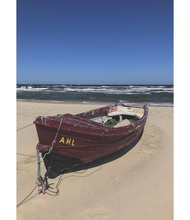 schnurkarten Fischerboot auf Usedom