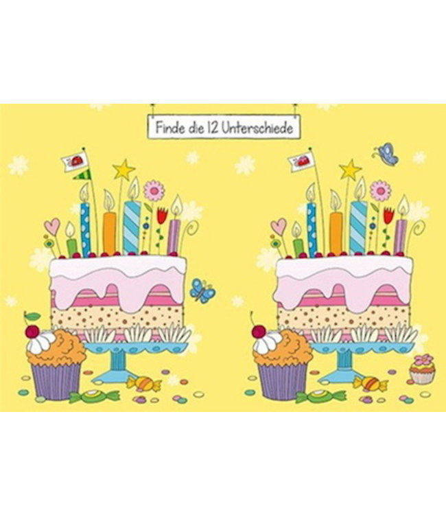 SKOWRONSKI & KOCH VERLAG Finde die 12 Unterschiede auf der Torte