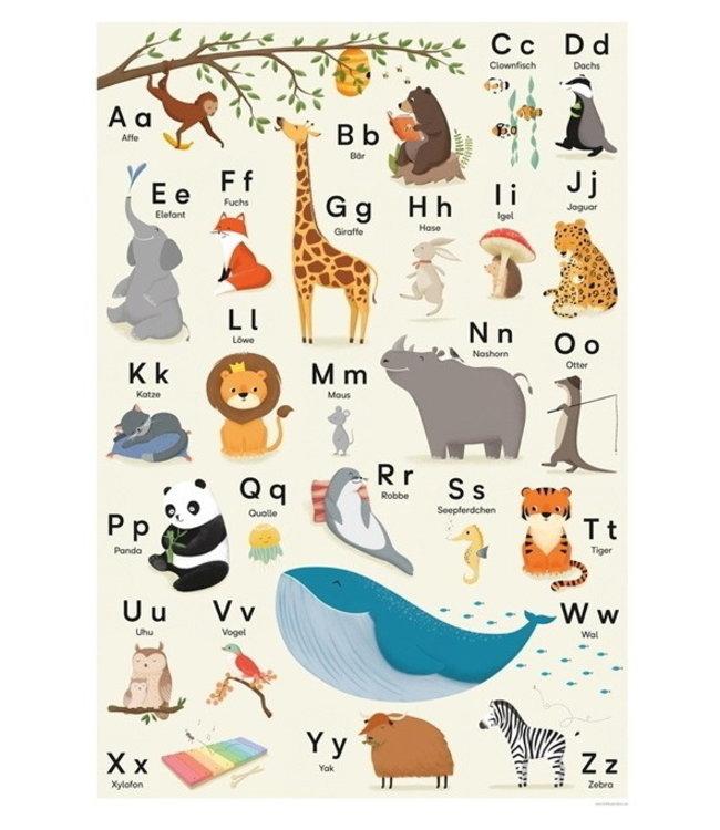 Vierundfünfzig Illustration Alphabet