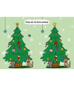 Charis Bartsch Finde die 11 Unterschiede am Weihnachtsbaum