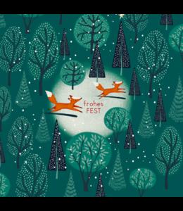 Taurus Cards Füchse im Weihnachtswald