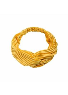 Velvet haarband - geel