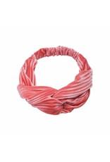 Velvet haarband - licht roze