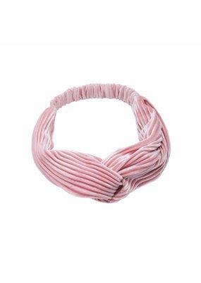 Velvet haarband - zacht roze