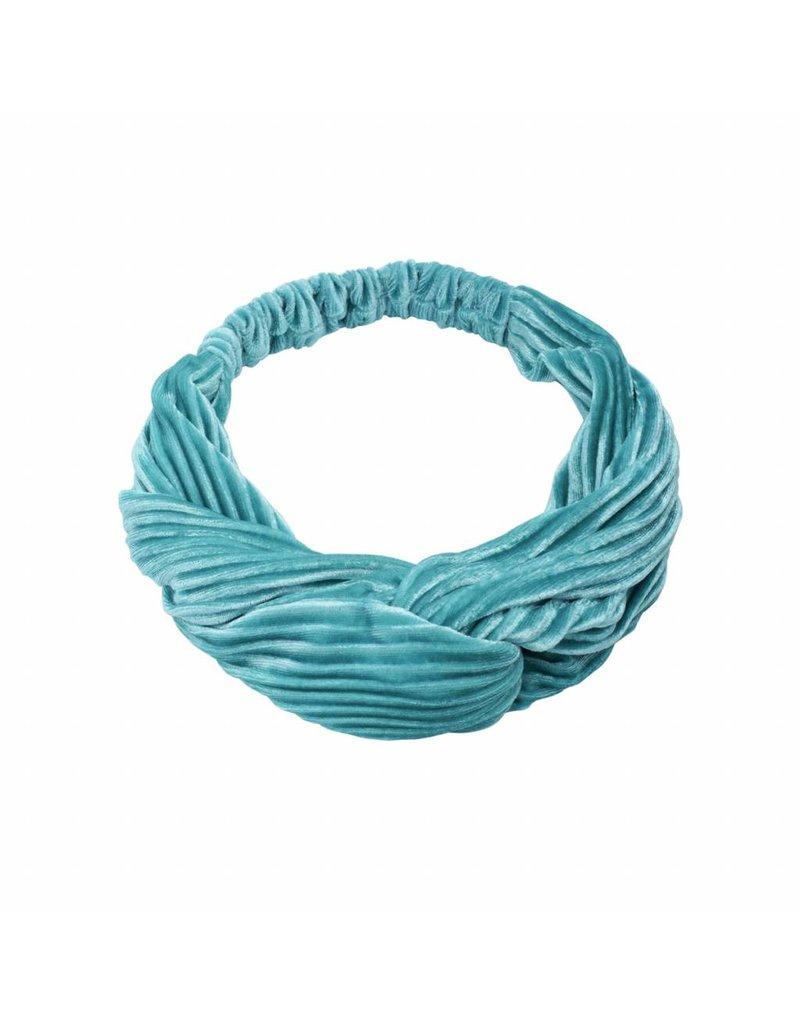 Velvet haarband -licht blauw