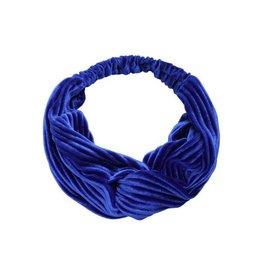 Velvet haarband - blauw