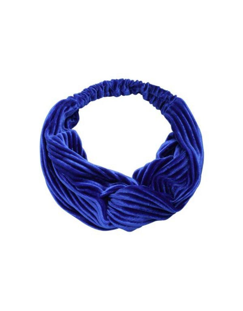 Velvet haarband -blauw