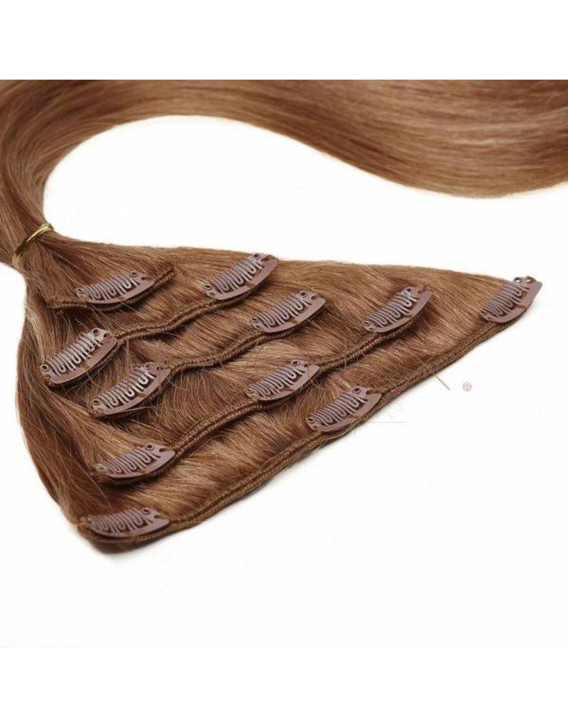 Clip-in extension bruin  - 50 cm