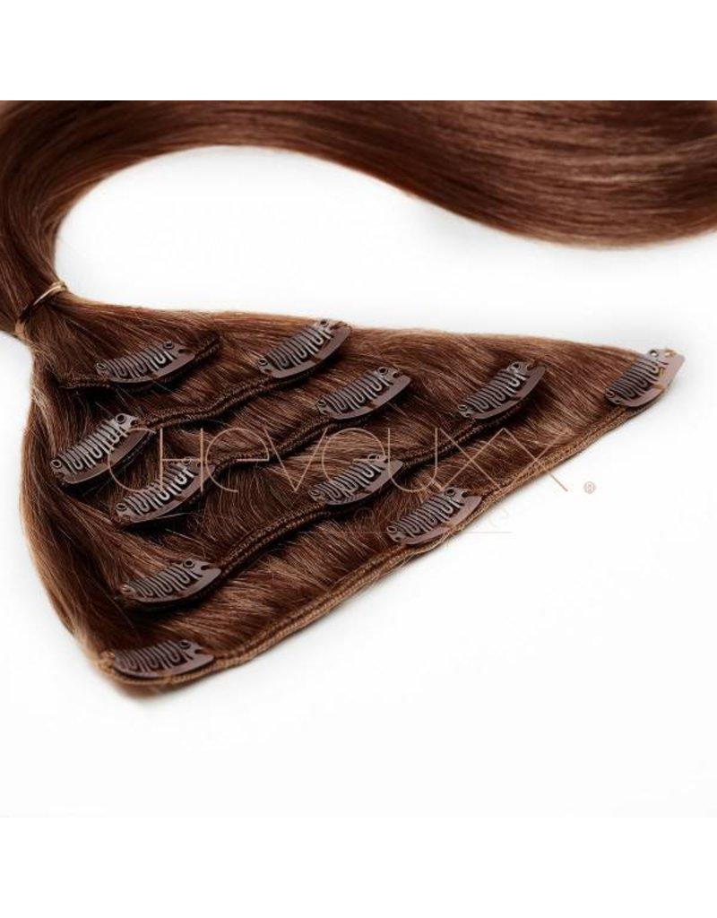 Cheveuxx Clip-in haar extension donker bruin - 40 cm