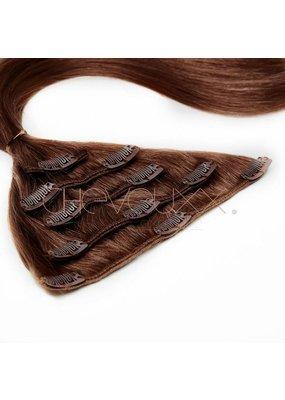 Cheveuxx Clip-in haar extension donker bruin -  50 cm