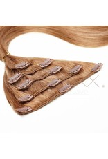 Clip-in extension lcht bruin  - 50 cm