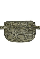 Heuptas - slangenprint groen
