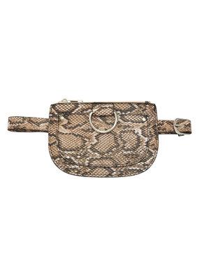 Heuptas - slangenprint bruin