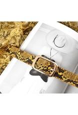 Riem snake - geel 100cm