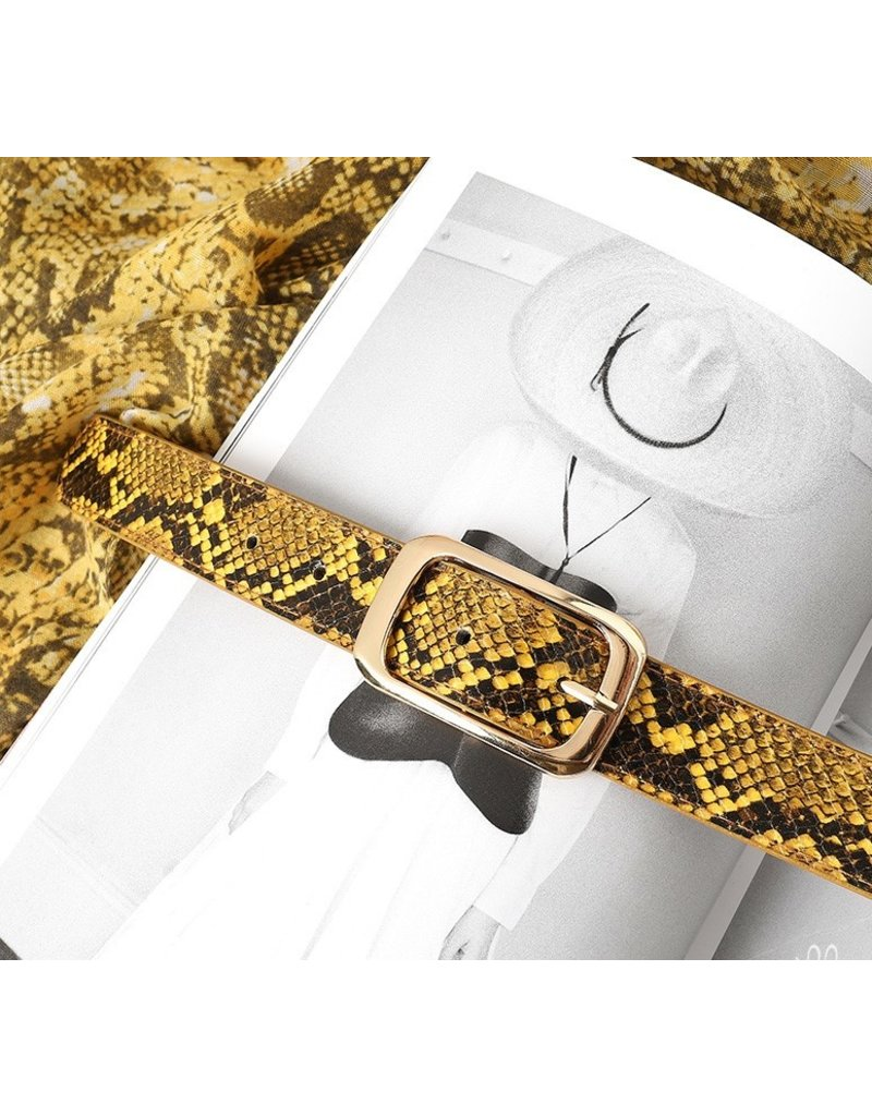 Riem snake - groen 100cm