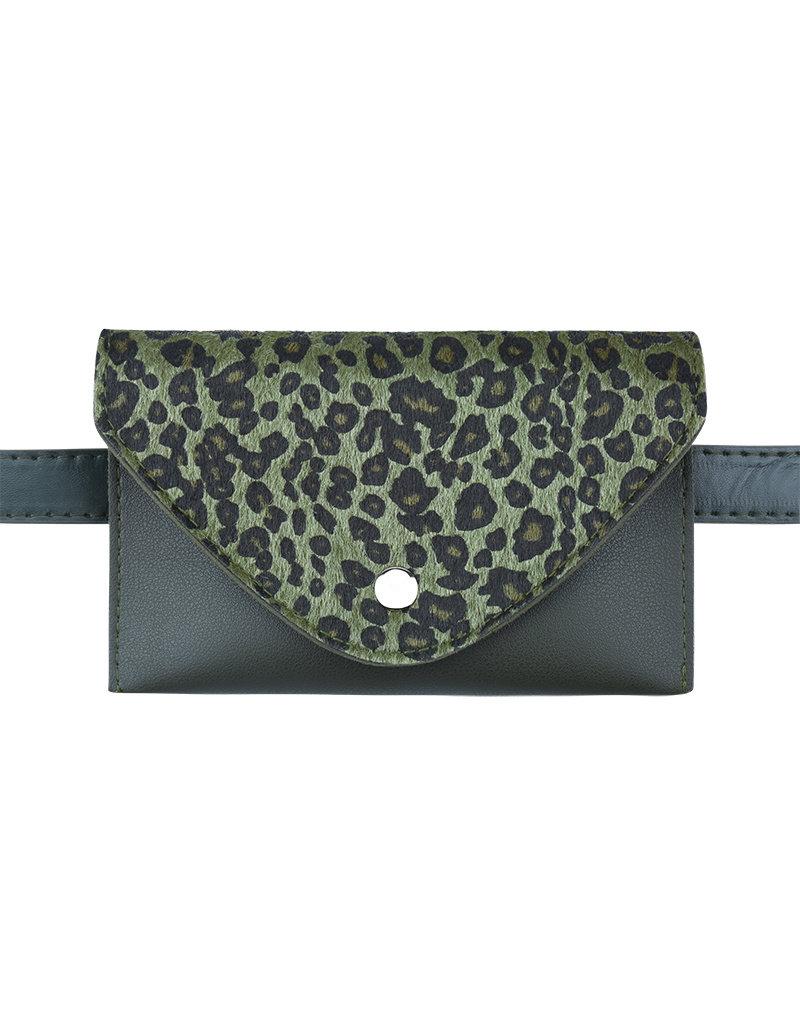 Heuptas leopard groen
