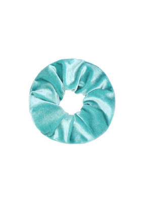Scrunchie velvet -  baby blauw