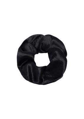 Scrunchie satin - zwart