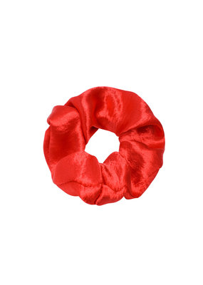 Scrunchie satin - rood