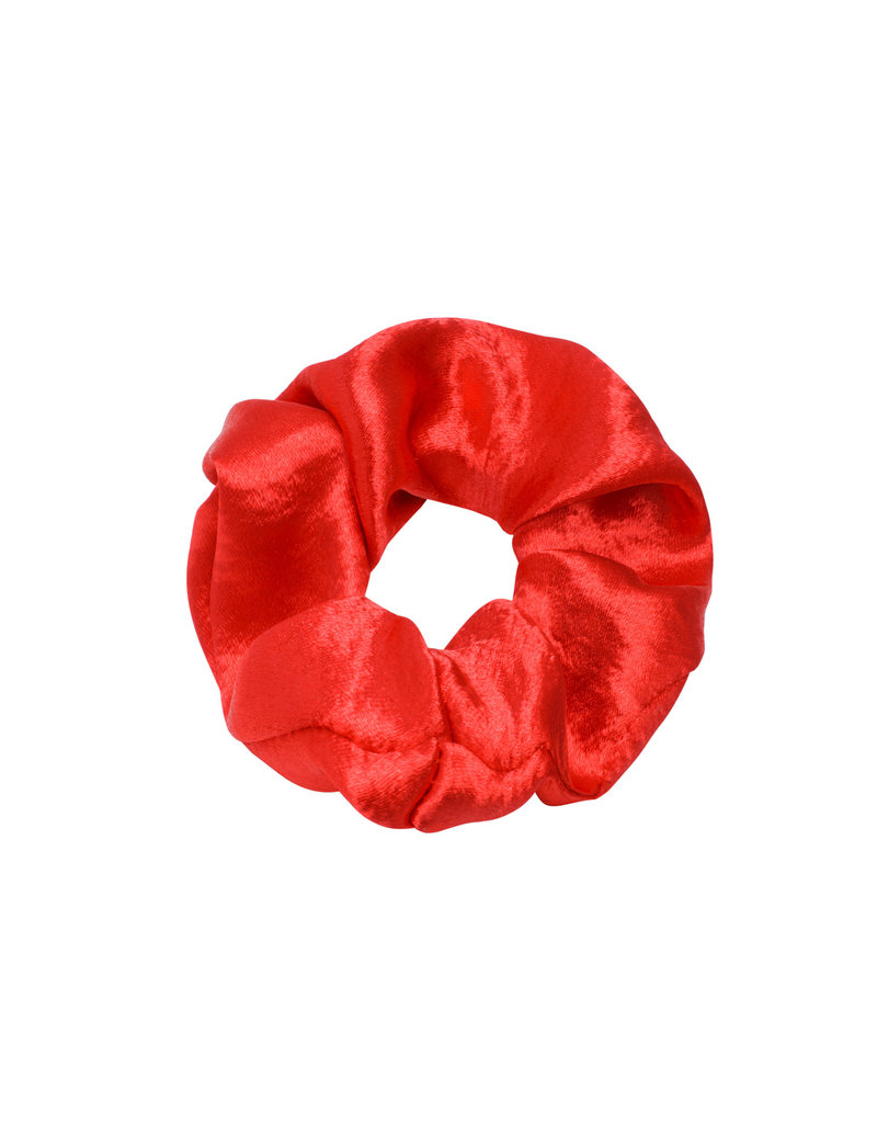 Scrunchie satin - rood